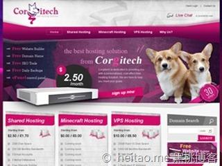 CorgiTech – 512M/20G/1TB/终身5折/英国/月付6美元