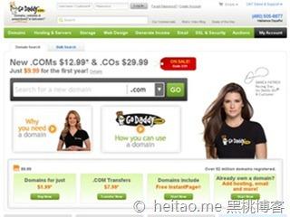 Godaddy – 域名注册特价优惠码2美元首年