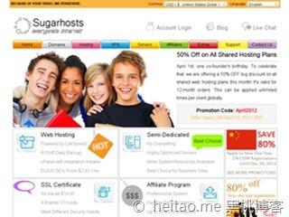 SugarHosts – 4月年付半价优惠码