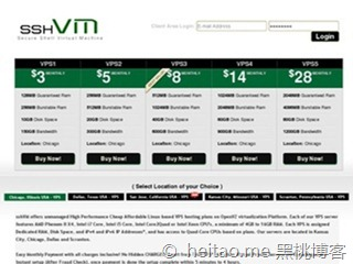 sshVM 加州圣何塞 128M OpenVZ 月付3美元