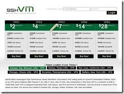 sshVM – 特价OpenVZ 128M 10G 250G 半年11美元 年付19美元