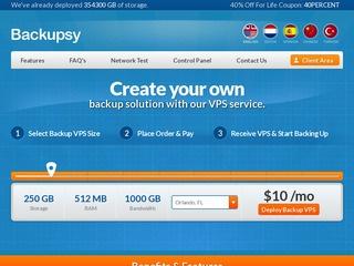 Backupsy – 500G硬盘备份KVM VPS月付$7
